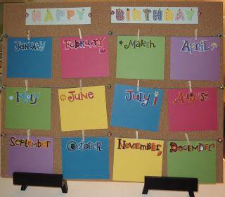 Classroom Birthday Board