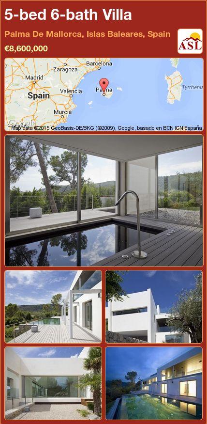 5-bed 6-bath Villa in Palma De Mallorca, Islas Baleares, Spain ►€8,600,000 #PropertyForSaleInSpain