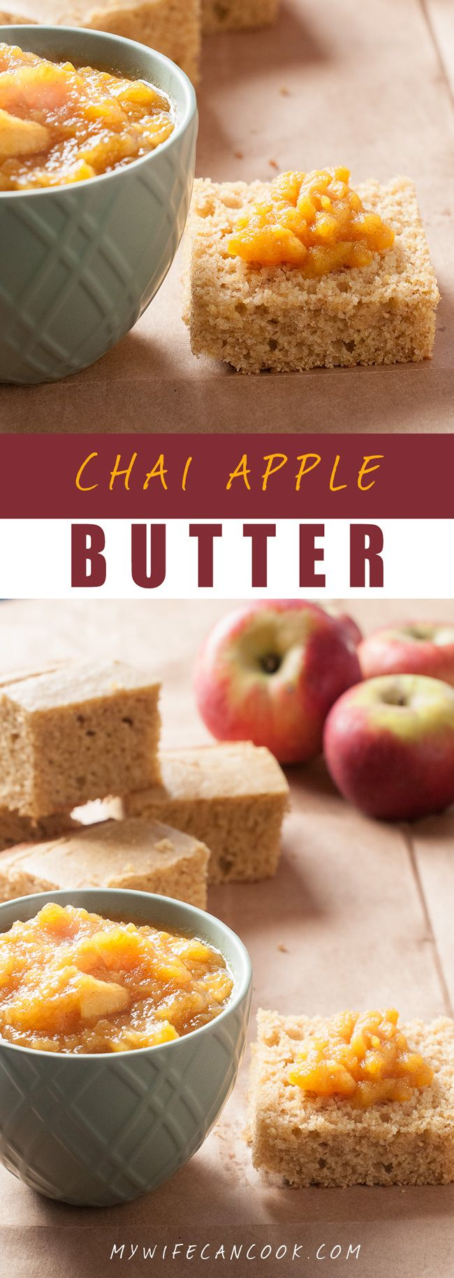 This Chai Apple Butter has become a popular sweet condiment in our house. We love it on homemade cornbread, but it will work on just about any bread or pastry on which you would like a little added sweetness.  It's an amazing sweet apple spread for your morning bread or muffin.  Another thing we love is that this freezes or cans so well and so it can be enjoyed throughout the year. As our own little added twist on traditional apple butter recipes we have added in the Chai flavor. Try it!