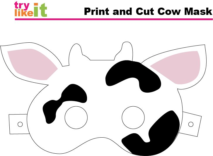 Crafty image in chick fil a cow mask printable