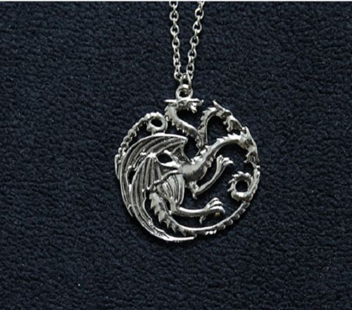 Collier Pendentif got 3 Dragons Drogon de Daenerys Targaryen Game of Thrones | eBay (6e)