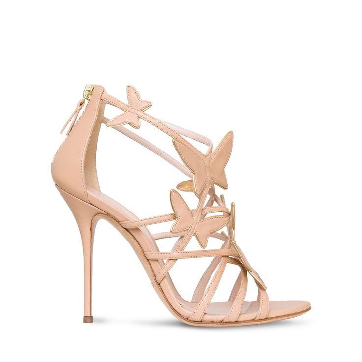Casasei scarpe sposa sandali rosa con farfalle