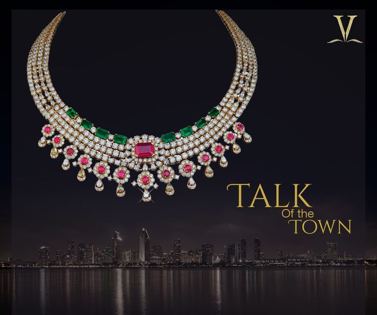 This esoteric ruby and emerald studded necklace to make you the belle of every ball. #TalkOfTheTown