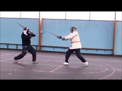 Sword play 24 German longsword sparring at the club