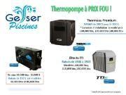 Thermopompes  /Chauffes- piscine / Garantie du meilleur prix Piscines Geyser, situé à Mirabel sortie 23  aut. 15    50,000 btu Stratos TTI : 1,349 $   65,000 btu Stratos TTI : 1,699 $   80,000 btu Stratos TTI : 2,149 $     RABAIS de 200$ jusqu'à 300 $  / sur les appareils de 65,000 btu à 140,000 btu   Thermeau Premium est le plus silencieux de l'industrie et requiert un ampérage inférieur a tout autres appareils, .     Livraison / installation Gratuite pour appareils Thermeau Pr. 125,000 btu…