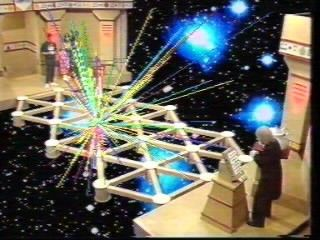 The Adventure Game.  The vortex would claim contestants if they stepped in the wrong place.  Although officially the 80's children born in the 70s loved this.  This was pre Crystal Maze, Pre-Fort Boyard etc.