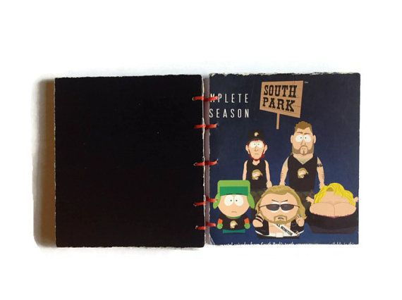 Here is a fantastic one of a kind journal made from the DVD case to South Park season 10 & dont worry NO DVDs were harmed in the making of this note