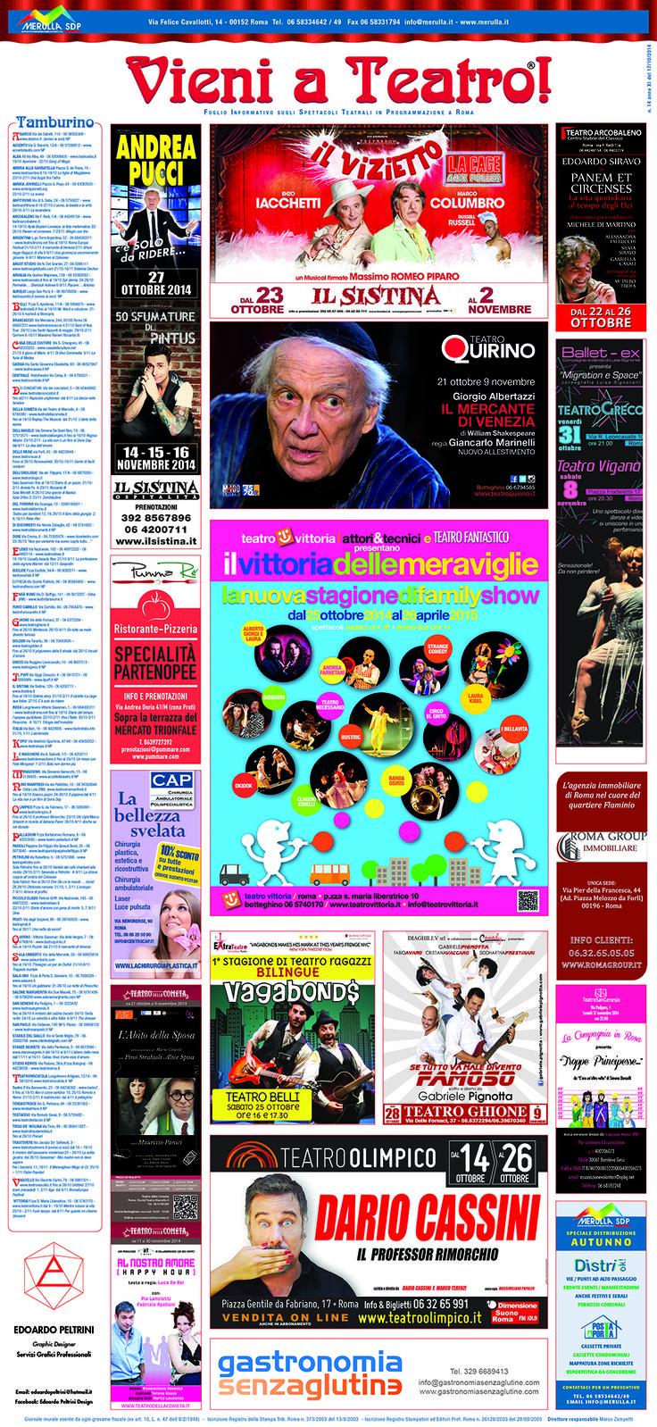 PummaRe' sponsor di questa bellissima iniziativa...Vieni a Teatro...e prima o dopo lo spettacolo, vieni a gustarti un'autentica pizza napoletana o una delle nostre specialità partenopee! Ti aspettiamo tutti i giorni a pranzo dalle 12:30 alle 15:00 e a cena dalle 19:30 alle 23:00! Prenota il tuo tavolo: Web: www.pummare.com Mail: prenotazioni@pummare.com Telefono: 0639727392