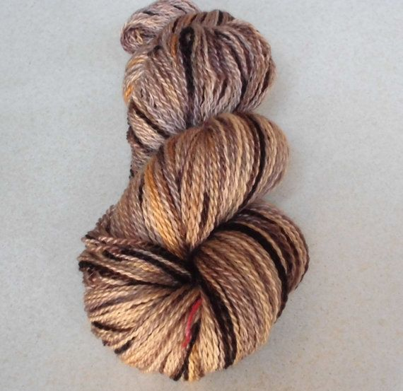 Hand Dyed Bluefaced Leicester Wool Sock Yarn, 2-ply Harvest . #etsy #etsyretwt