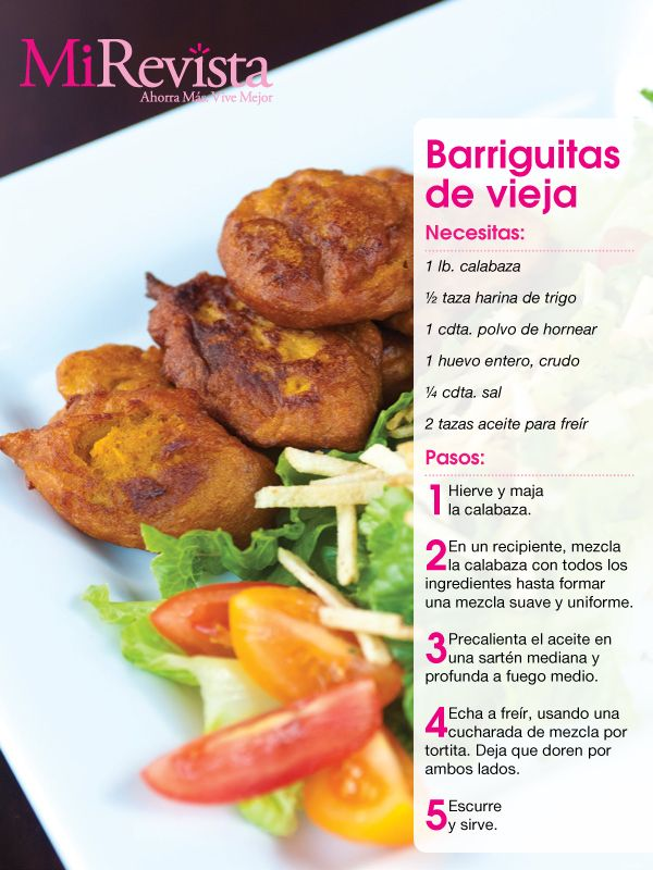 Receta: Barriguitas de Vieja - Puerto Rico pumpkin fritters ... side dish or dessert or after school snack.  Yum