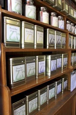 tea bar canister ideas