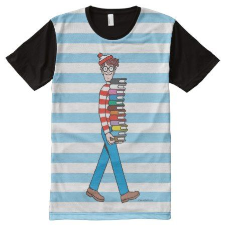 Where's Waldo Carrying Stack of Books All-Over-Print Shirt - tap to personalize and get yours