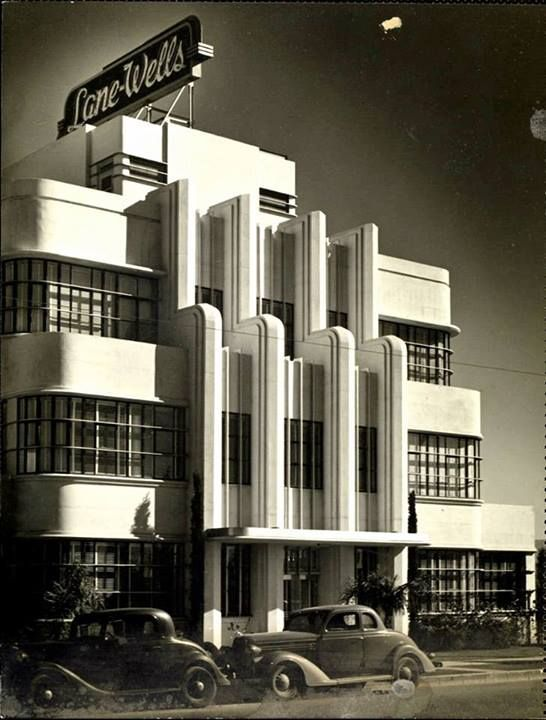How wonderful is the art deco architecture on this building it was the lane wells company headquarters in los angeles circa they sure dont make em like