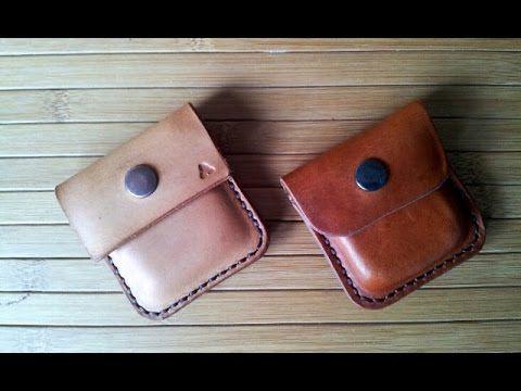 Monedero de piel cuero. Leather coin holder. Hecho a mano, Handmade, Handcraft. - YouTube