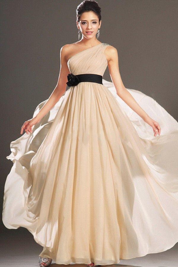 amandadress.com.au SUPPLIES Elegant Designer Eye-Catching A-Line Champagne With Flower Long Formal Dress Backless Formal Dresses