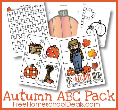 Free Autumn Themed ABC Printable Pack