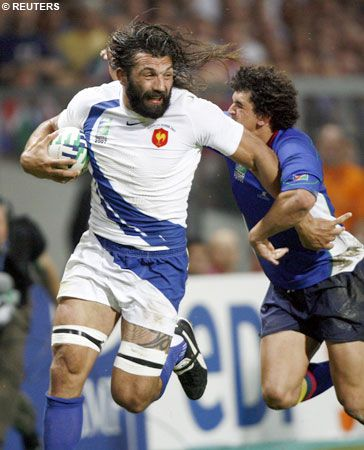 "Sébastien #Chabal aka ""The Caveman""- World's strongest rugby player!"