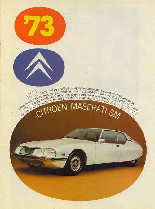 Citroën + Maserati, 1973.
