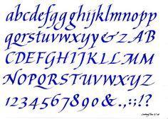 My Calligraphy Blog: Two Italic Calligraphy Alphabets (2008)