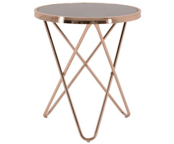 Стол - сталь - медный, Ø45х50 см