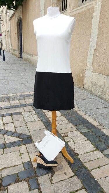 Look noir et blanc du boudoir
