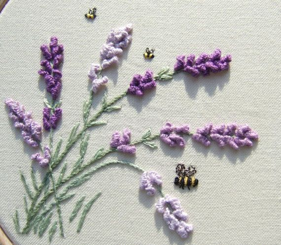 PDF Lavender in the Breeze, embroidery pattern from Lorna Bateman via Etsy.