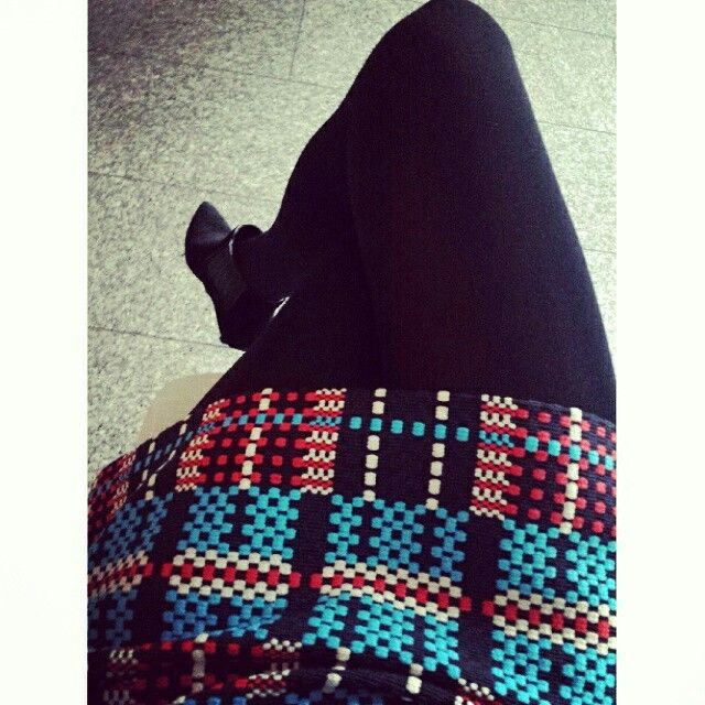 Love this skirt from Zara and the TopShop booties!