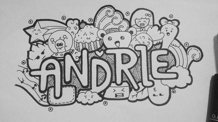 Andrie #Doodle #Art #Doodleart #Indonesia #Love #Draw #Name #Hot #Ink #Love #Vsco #Live #Smile #coret #seni #cartoon #Monster #Drawing