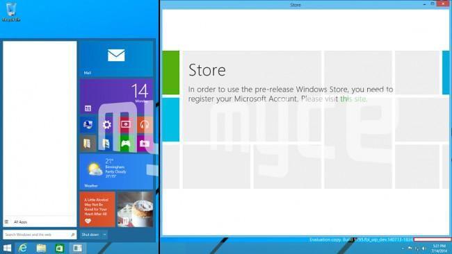 Nuevas capturas del próximo Windows muestran el menú de inicio y las aplicaciones en el escritorio http://www.xatakawindows.com/p/110629