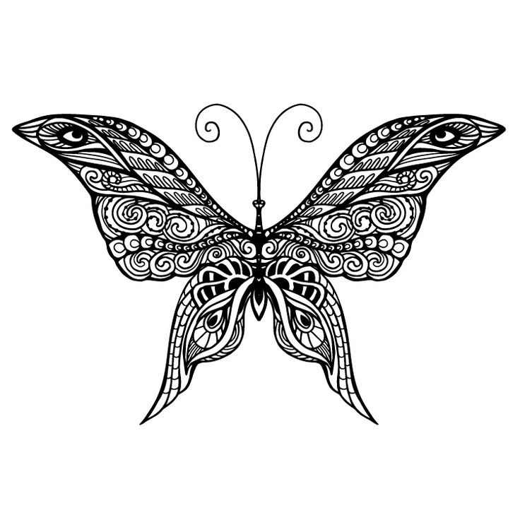 Butterfly Temporary Tattoo #805