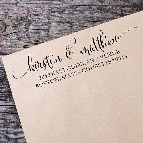 Return Address Self Inking Stamp Wedding by IntricutCreations