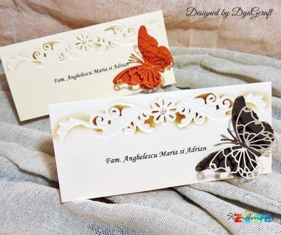 Plic de bani/ Place card 2in 1 Elegant Butterfly