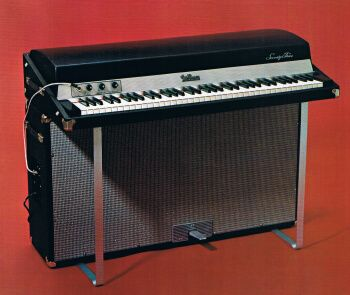 73 Suitcase Fender Rhodes 1974 Mk I  Mine is from 1971 and is a stage piano (so it doesn't have the integrated amp/cabinet)