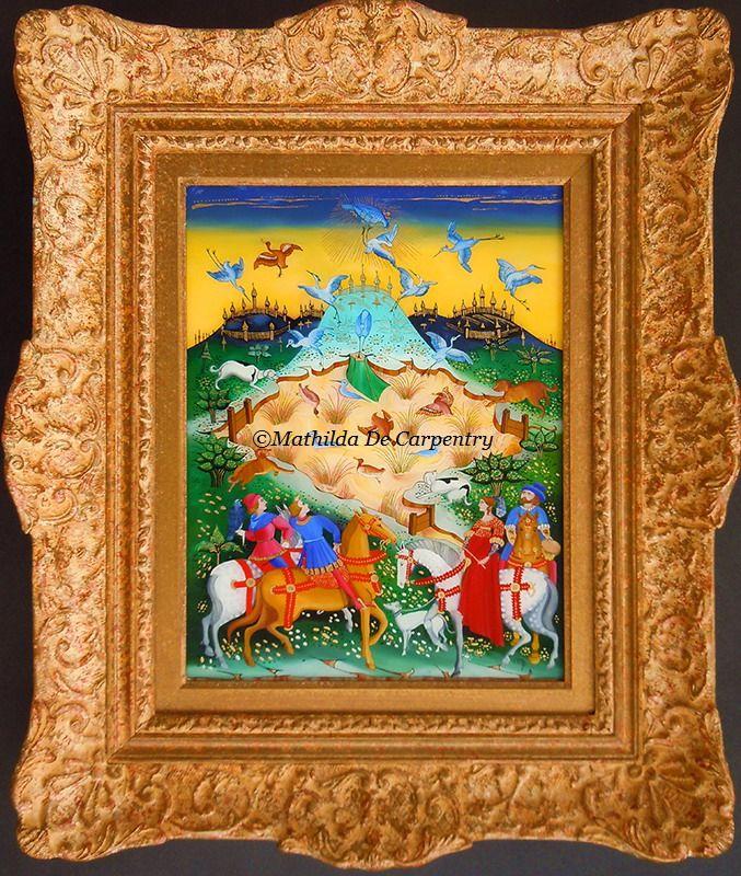 Reverse painting on glass - Peinture sous verre - Hinterglasmalerei