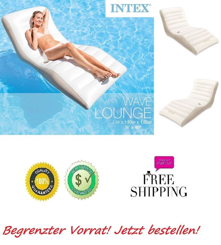 lounge schwimmliege f r pool wasserliege poolliege sitz intex luftmatratze wave luftmatratze. Black Bedroom Furniture Sets. Home Design Ideas