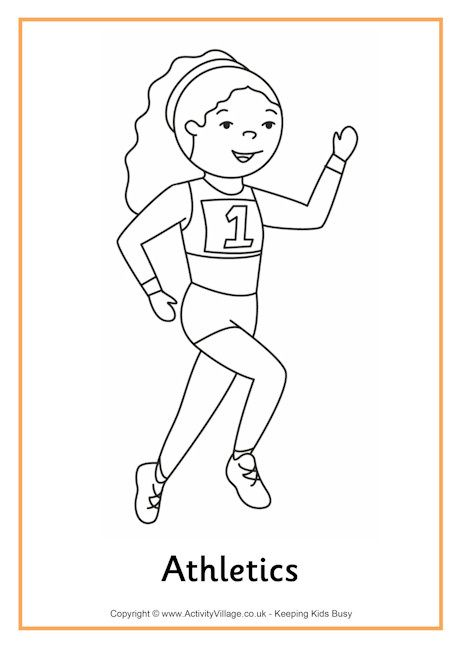 athletics colouring page 2 coloring pages athlete