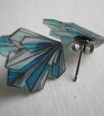 .Shrinky dink earrings