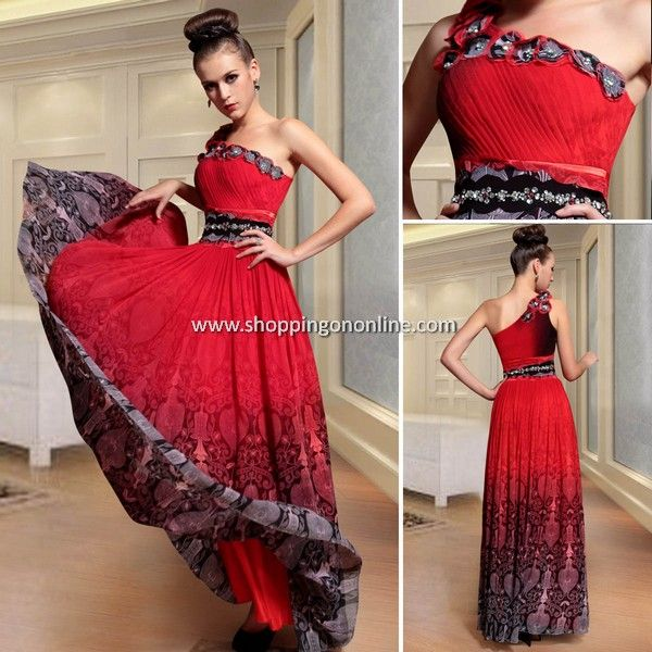 Red Evening Dress - One Shoulder Gorgeous $198.40 (was $248) Click here to see more details http://shoppingononline.com/red-evening-dresses/red-evening-dress-one-shoulder-gorgeous.html #RedEveningDress #RedDress #OneShoulderDress