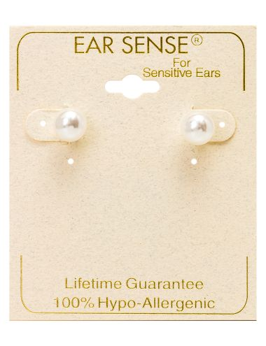 These 9mm pearl stud earrings will add a stylish finish to your look.