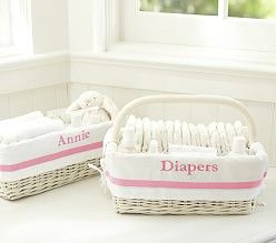 White Storage Baskets & Lined Storage Baskets | Pottery Barn Kids