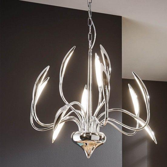 Popular Raffiniertes Designobjekt und zugleich moderne Lampe Diese extravagante Pendelleuchte zieht die Blicke Ihrer G ste auf