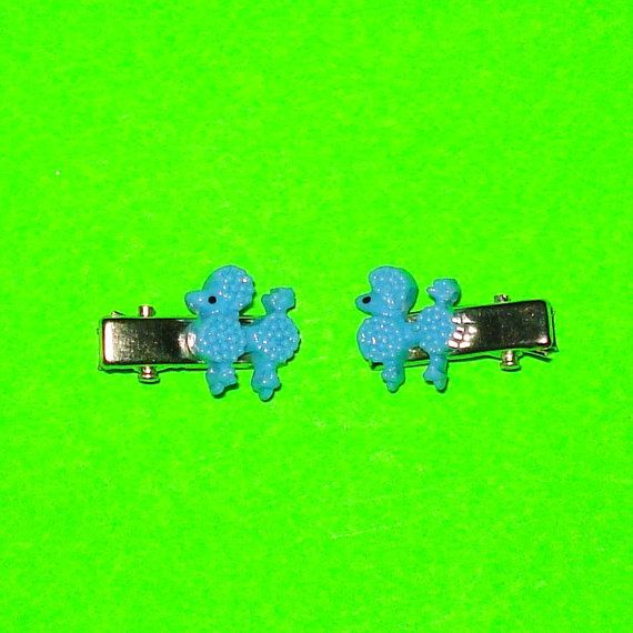 Poodle MiniClips https://www.etsy.com/ca/listing/248169384/powder-blue-poodle-hair-clips