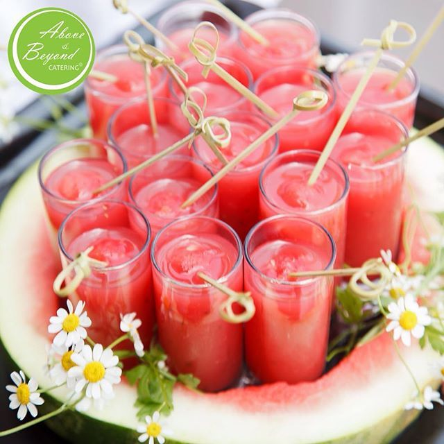 """Our """"Watermelon Shots"""" are a delicious and refreshing way to celebrate #NationalWatermelonDay!"""