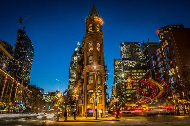 The Gooderham Building in downtown Toronto, also known as the Flat Iron building. #Historic #Architecture #Toronto