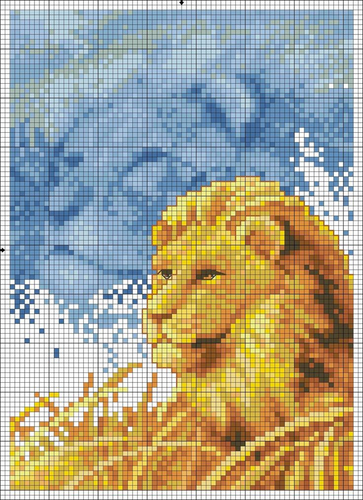Cross stitch *<3* Point de croix Lions
