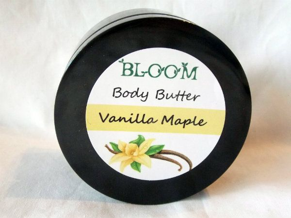 Bloom Vanilla Maple Body Frosting - Smells soooo good you'll want to eat it! Toxin free skincare, 100% natural, raw ingredients, essential oil based.
