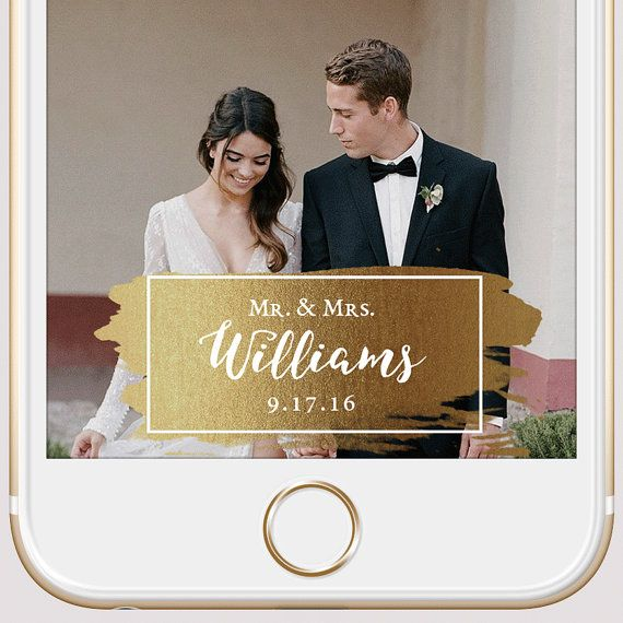 39 Stylish Snapchat Geofilters For Your Wedding Day