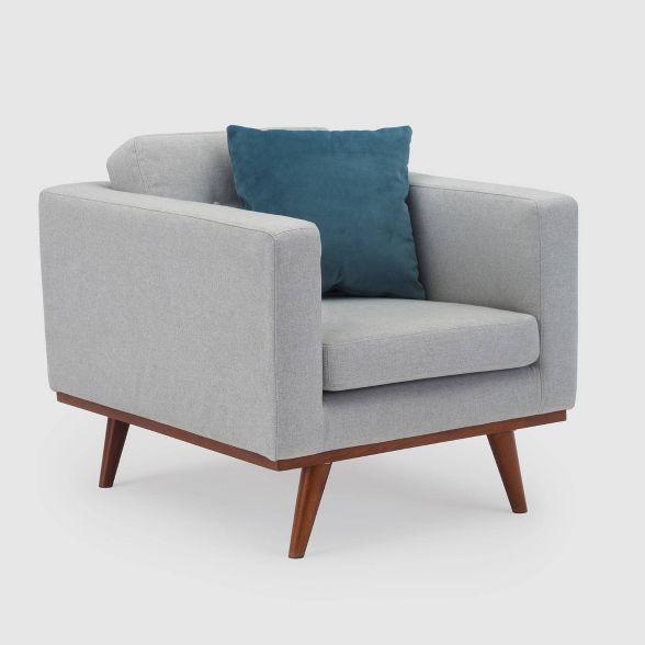 James Mid Century Modern Club Chair Rst Brands Modern Club Chair Club Chairs Tufted Club Chairs