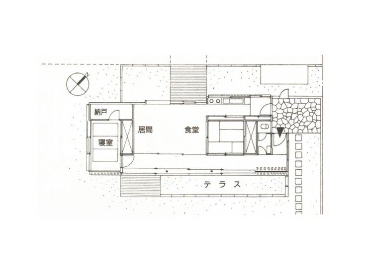 Saito house 1952|斎藤助教授の家 平面 清家清