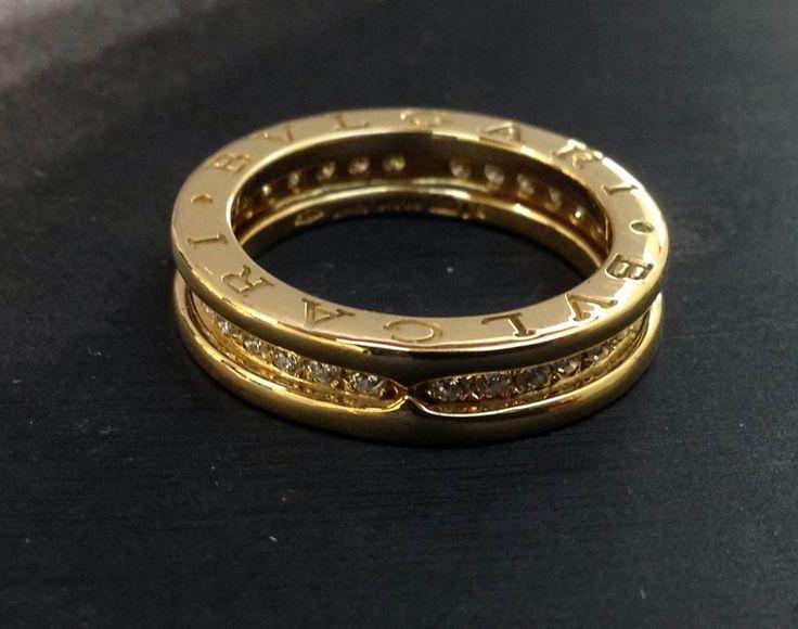 Anello B.Zero1 Bulgari ad 1 fascia in oro giallo e diamanti